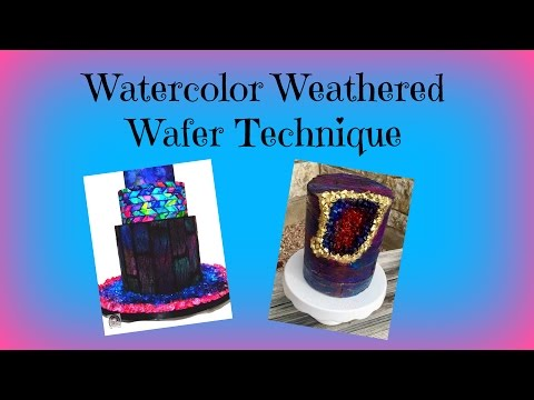 How to: Watercolor Weathered Wafer Technique | Cakes & Crafts by Kass