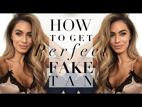 HOW TO GET PERFECT & EVEN FAKE TAN | Lydia Elise Millen | AD