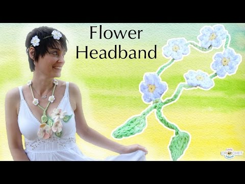 Crochet Flower Headband - Festival Fashion DIY Pattern