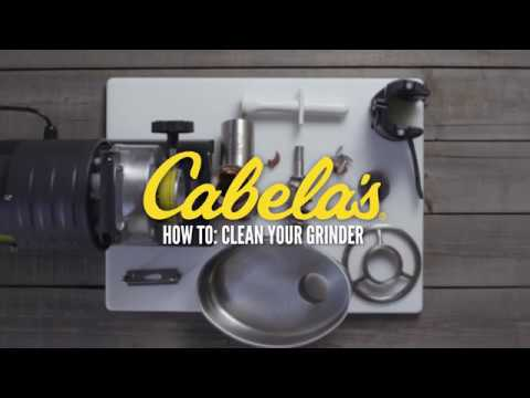How to Clean a Cabela's Carnivore Commercial-Grade Grinder