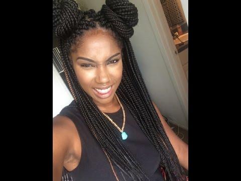styling box braids