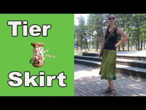 DIY - How to sew a Tier Skirt from leftover fabric scraps