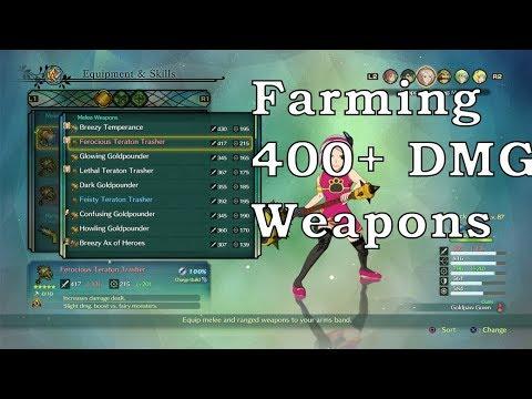 Farming 400+ DMG Weapons - Ni No Kuni 2