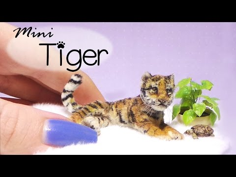 Miniature Tiger Tutorial // Dolls/Dollhouse // SugarCharmShop