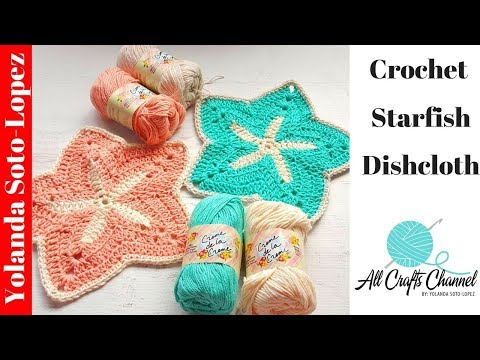 How to crochet a Starfish discloth