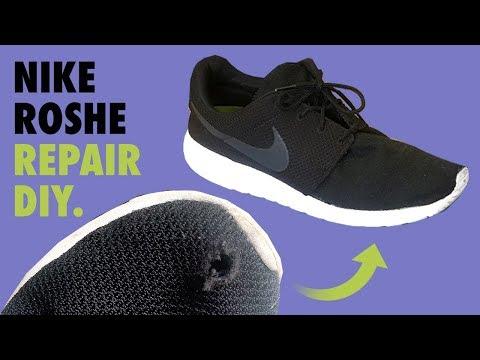 NIKE ROSHE Mesh (hole) Repair - FIX DIY