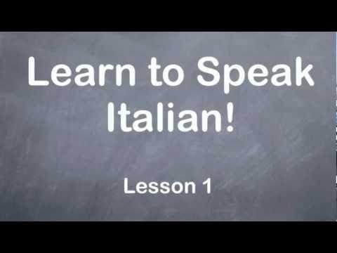 Learn to Speak Italian - Learn Italian Online Free