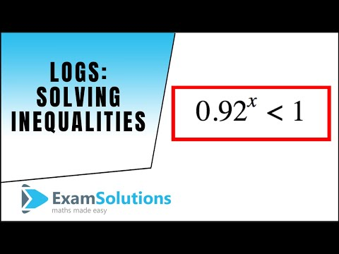 Logs - Solving inequalities : ExamSolutions Maths Revision
