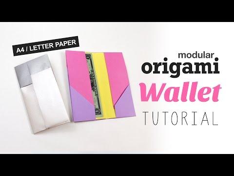 Modular Origami Wallet Tutorial ♥︎ DIY ♥︎ Easy ♥︎ Paper Kawaii