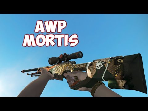 CS:GO - AWP | Mortis Factory New 0.0009 Float Value Skin Showcase (The Clutch Weapon Case) 4K RES