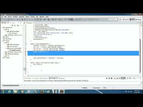 how to make digital clock in java eclips (bengali tutorial) text 1