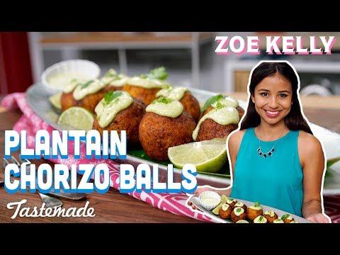 Plantain Chorizo Balls I Zoe Kelly