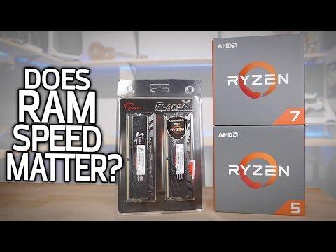 RYZEN TEST: Does RAM Speed Matter?