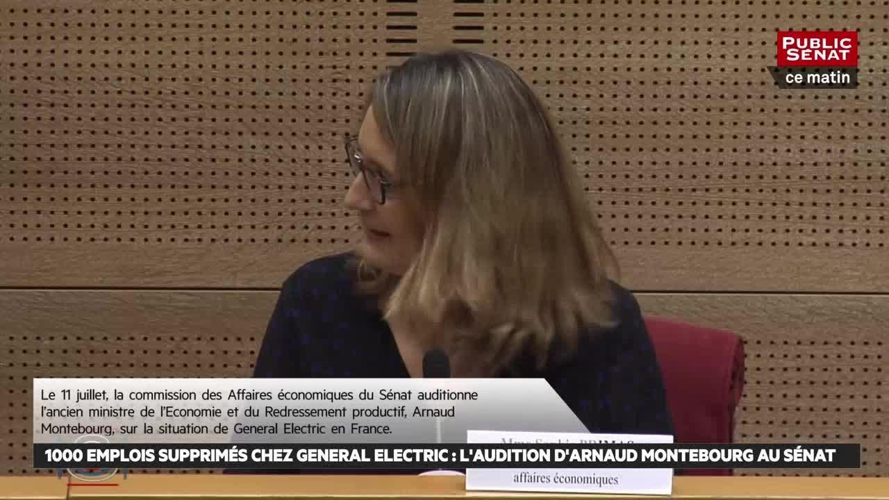 1000 emplois supprimés chez General Electric : Arnaud Montebourg face au Sénat.