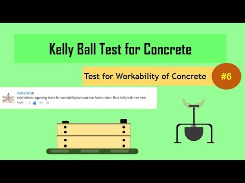 Kelly Ball Test for Concrete || Test for Workability of Concrete #6