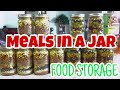 MEALS IN A JAR using food storage! Great for Preppers, Hunters and Camping!