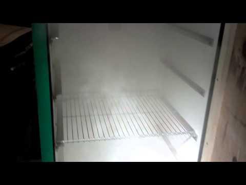 Homemade smoker out of a refrigerator