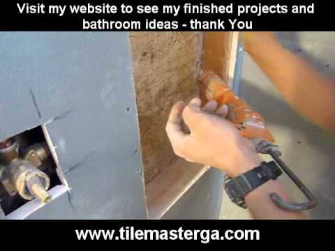 PART 1. How to install built-in shower niche, nook, recessed shelf -- framing, build preparation