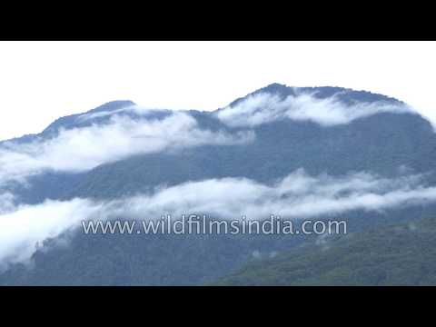 Clouds engulfing Himalayan mountains in Arunachal Pradesh
