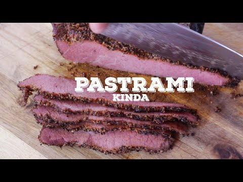 Quick and Dirty Homemade Pastrami - On the new Traeger Pellet Smoker.