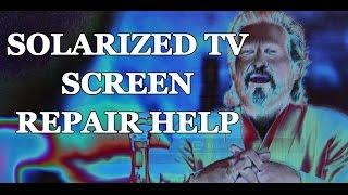 Lcd Tv Repair Tutorial Tv Screen Solarization Common T Con Main Board