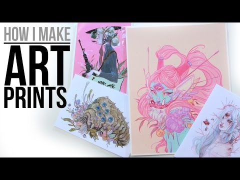 How I Make Art Prints from Home // Supplies, Tools, Etc.