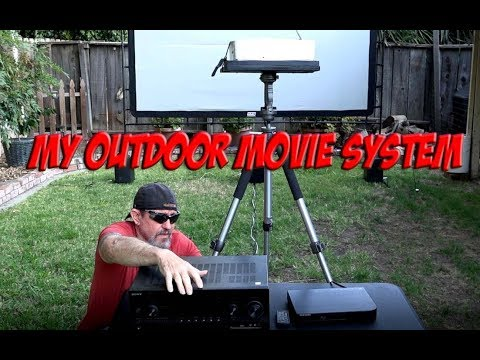 My Outdoor Movie System Setup