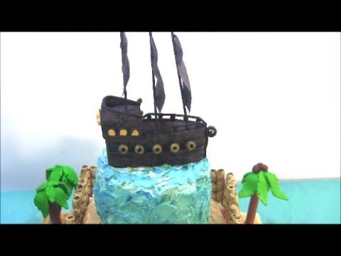 Pirate Island Cake Tutorial