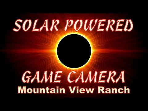 Mountain View Ranch - Solar Powered Game Camera