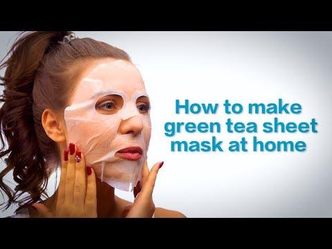 Make Green Tea Sheet Mask At Home