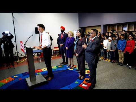 Prime Minister Trudeau highlights changes to the Canada Child Benefit