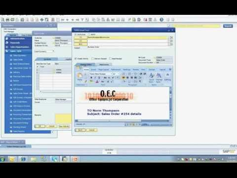 Sap Business One Advanced Productivity Pack Document Delivery