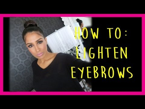 How to Lighten Your Eyebrows with Makeup