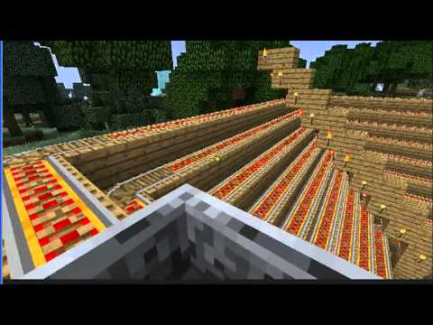 Minecraft - Roller Coaster Epic Minecart ride - Long and Pretty sweet