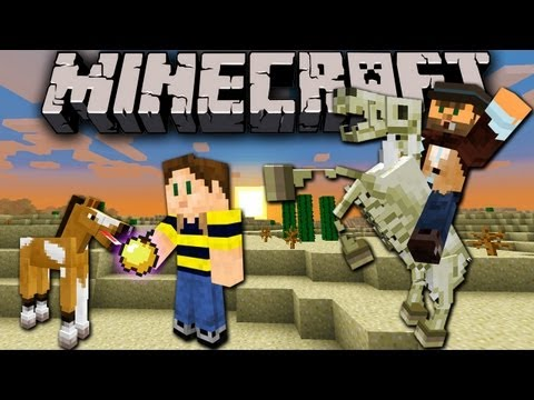 Minecraft 1.6 Snapshot: Faster Horses, Taming, Breeding, Zombie & Skeleton, Mule, Parkour 13w16a