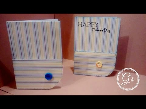 Masculine Card Series Day 2: Shirt Sleeve and Cuff Card DIY/Tutorial Father's day Dad