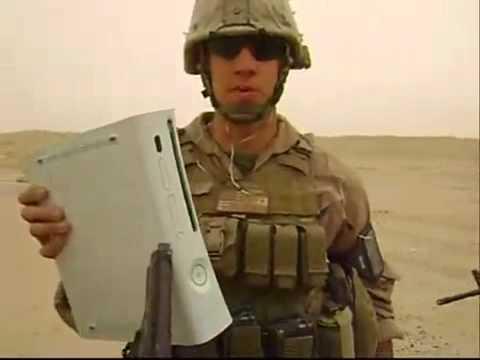 US ARMY  DESTROYING XBOX 360