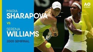 Serena Willams v Maria Sharapova - Australian Open 2005 Semifinal | AO Classics