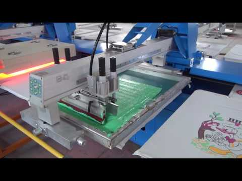full servo automatic silk screen printing machine introductions and working