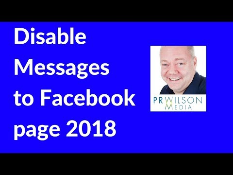 How to disable the message button on a Facebook page 2018
