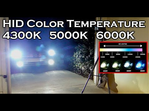 HID XENON COLOR TEMPERATURE 4300K 5000K 6000K
