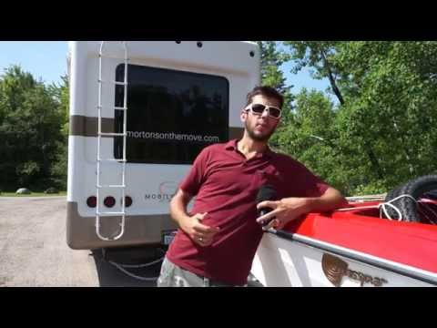 How to Double Tow Two Trailers - Towing a boat behind our fifth wheel 70 Feet Long!