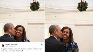 Download Barack Obama Kissing Michelle Under a Mistletoe on Christmas is Twitter's Favourite Thing Currently Video
