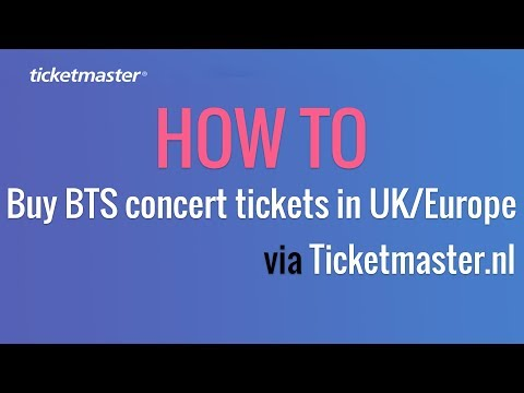 How to buy BTS concert tickets in UK/Europe via Ticketmaster.nl