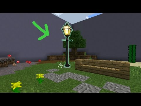 Minecraft PE: How to make a Street Lamp