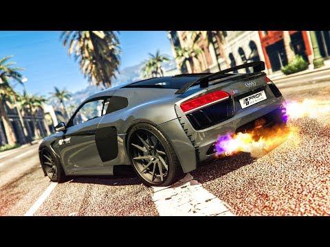 AMAZING AUDI R8 CAR MOD! - (GTA 5 Stunts & Fails)