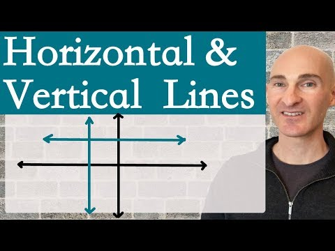 Horizontal and Vertical Lines (Equations & Graphs)