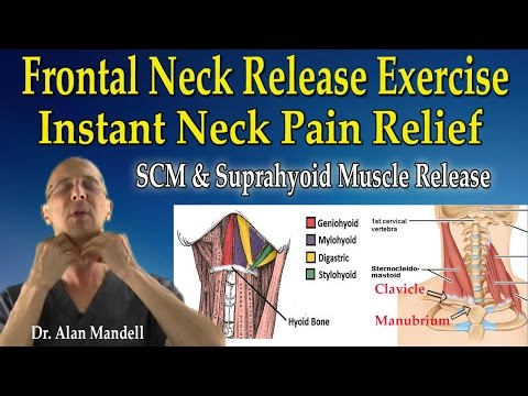 Anterior Neck Release Stretch (SCM & Suprahyoid Muscles) for Instant Neck Pain Relief - Dr Mandell