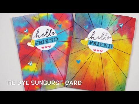 Tie Dye Sunburst/Smooshing | Stampiphany