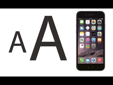 How to Increase Text size in iOS 8 iPhone 6 and iPhone 6 plus